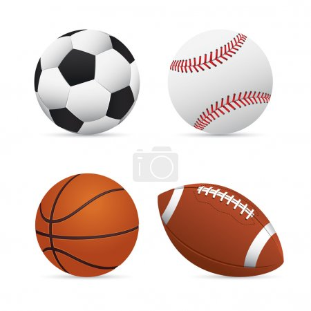 Soccer, Football, Basketball and Baseball