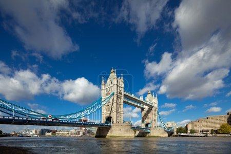 The famous Tower Bridge in London, UK