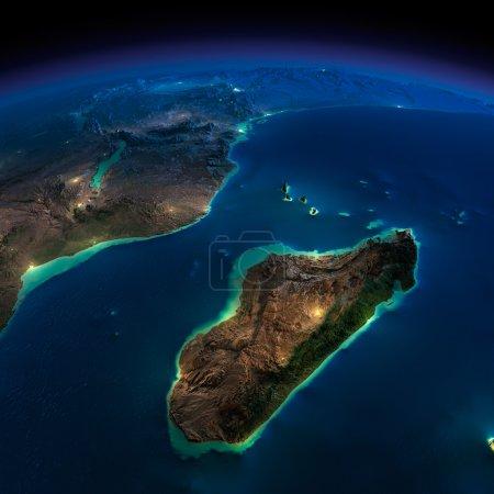 Ночная Земля Африки и Мадагаскара
