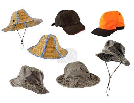 Conjunto de gorras y sombreros