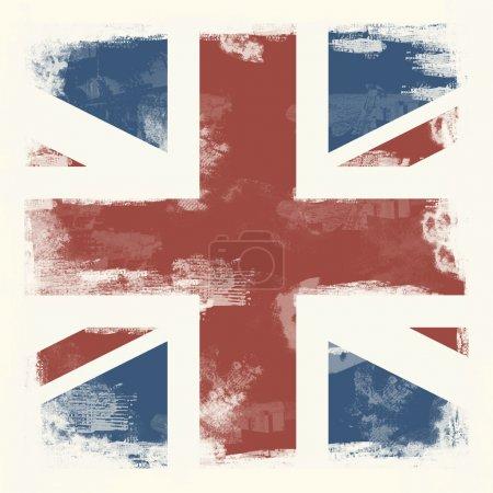 Photo pour Drapeau national de la Grande-Bretagne, créé dans le style grunge - image libre de droit