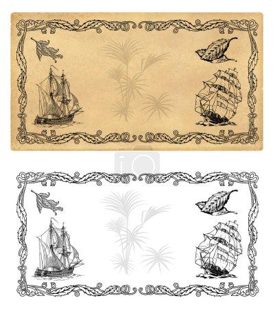 Illustrationsvorlage für Gewürzetiketten oder Tee