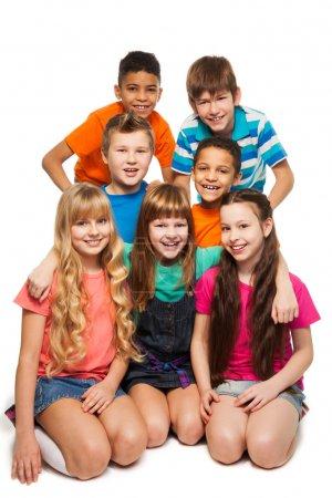 Group of 7 kids together