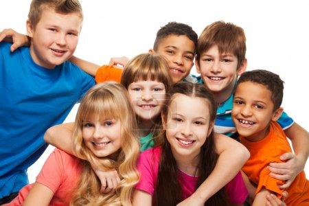 Lump of happy kids