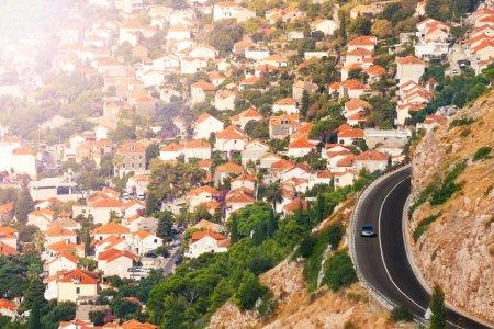 City of Dubrovnik and motorway