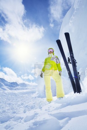 Lot's of snow is good for skiing