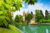 Bajmóc/Bojnice kastély megtekintése a park