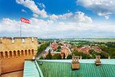 Bojnice-torony és a falu
