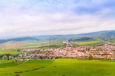 Spissky hrad village panorama
