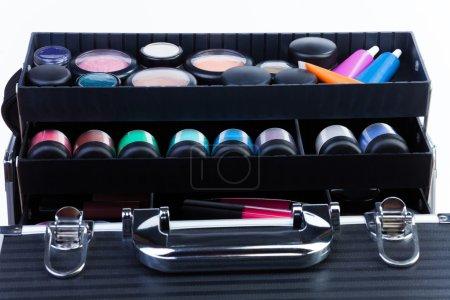 Shelves in makeup case