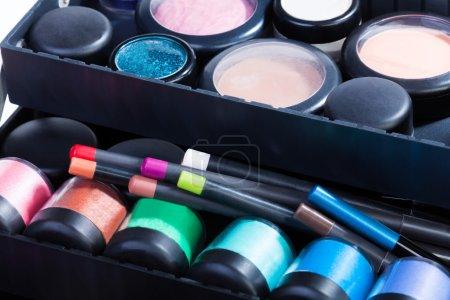 Inside makeup case