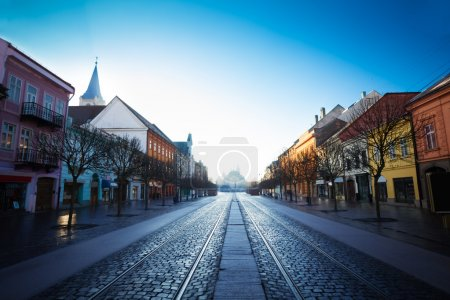 Beautiful view of Hlavna street in Kosice, Slovaki...