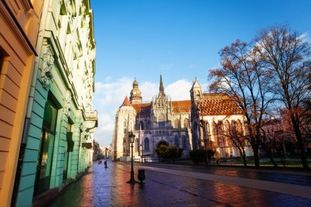 St Elisabeth cathedral view from street in Kosice,...