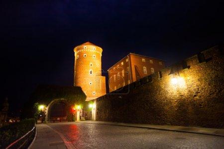 Photo for Night view of Gates of wawel Royal Castle (Zamek Krolewski na Wawelu) - Royalty Free Image