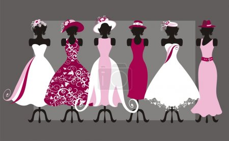 Hats and dresses
