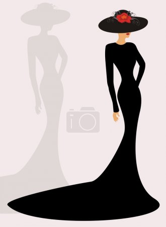 Illustration for Fashion silhouette - Royalty Free Image