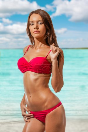 Beautiful woman wearing bikini