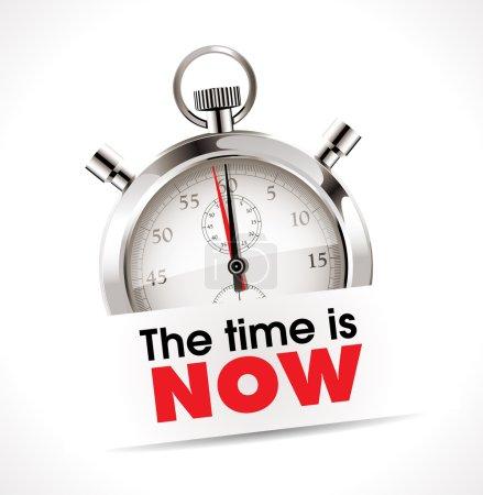 Illustration pour Chronomètre - le temps est maintenant illustré - image libre de droit