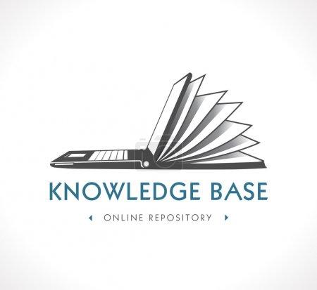 Illustration for Logo - knowledge base - Royalty Free Image
