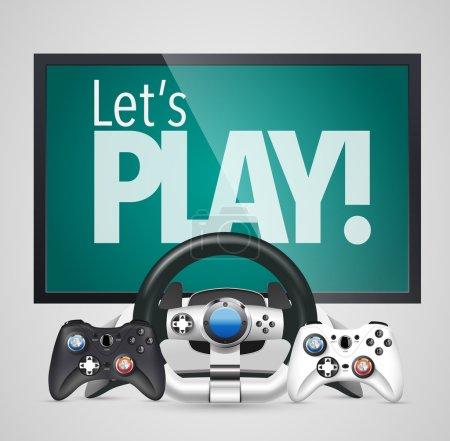 Spielsteuerung und Bildschirm