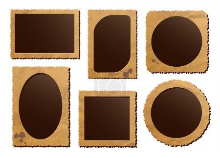 Illustration pour Cadres photo rétro sur fond blanc - image libre de droit