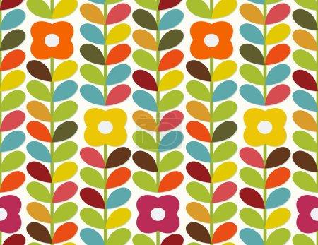 Bright flowers pattern