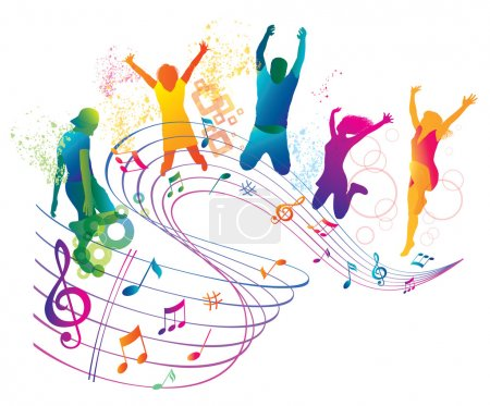 Illustration for Abstract Music Background for Party. - Royalty Free Image