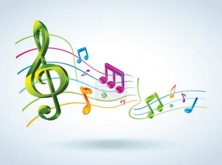 Illustration pour Fond musical abstrait . - image libre de droit