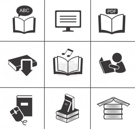 Book icons set.
