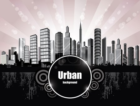 Illustration for Abstract City Background. - Royalty Free Image