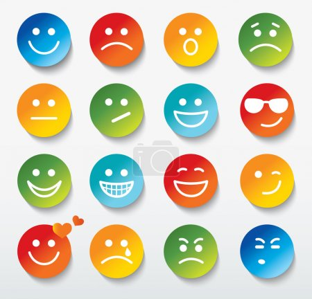 Illustration for Set of faces with various emotion expressions. - Royalty Free Image
