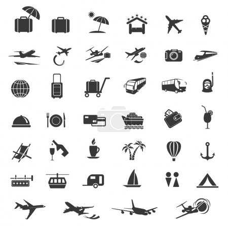 Illustration for Travel Icons. - Royalty Free Image