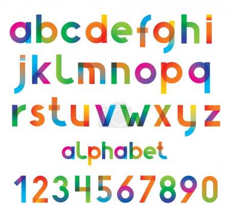 Illustration pour Numéros et polices vectorielles coloré. - image libre de droit