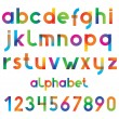Colorful vector font and numbers....