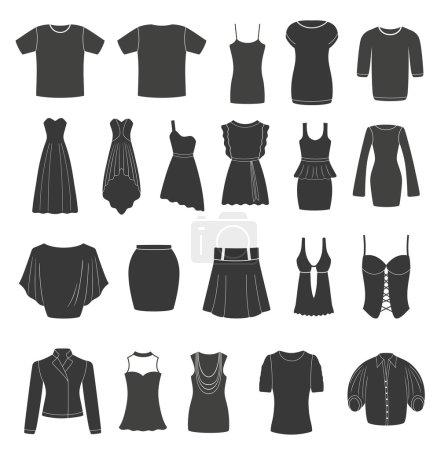 Set of women's & men's clothing.