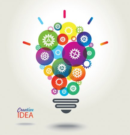 Illustration for IDEA. Colorful conceptual background. - Royalty Free Image