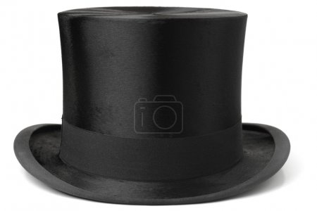 Photo for Black top hat isolated on white background - Royalty Free Image