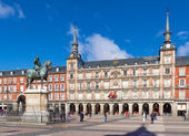 Monument to King Philip III of Spain on the Plaza Mayor in Madri