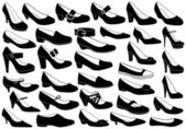Shoes illustration set isolated on white
