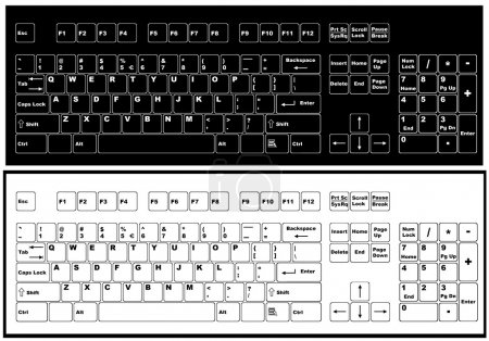 Black and white keyboard
