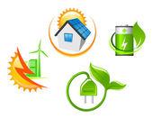 Sada ekologických ikon