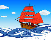 Sailboat With Scarlet Sail