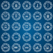 Transportation icon set vector illustration with transparency