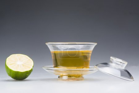 Photo for A cup of tea and lime - Royalty Free Image