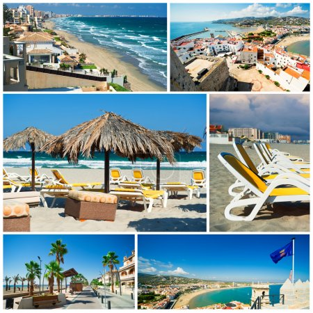 Touristic places of Spain,collage
