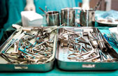 Surgical tools closeup