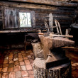 Farrier tools in ancient smithy...
