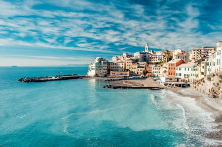 Photo for View of Bogliasco. Bogliasco is a ancient fishing village in Italy - Royalty Free Image