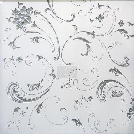 Photo pour Modèle de fleur en verre teinté - image libre de droit