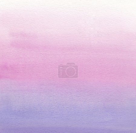 Photo for Watercolor painting. White, pink, purple gradient - Royalty Free Image